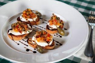 ברוסקטה קפונטה מסעדת לוקה (צילום: חיים יוסף)